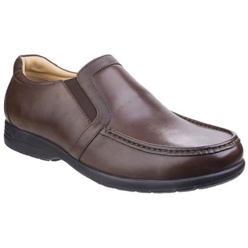 Fleet & Foster Gordon Touch Fastening Mens Shoes Brown